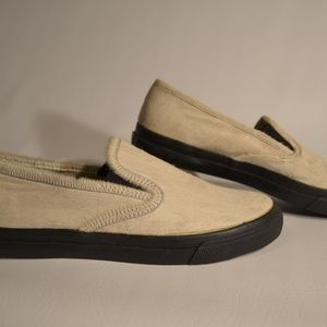 Sperry Top Sider Leather Loafers Cream Sz. 10